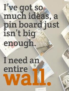Pin board walls